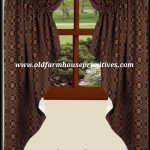 #PLJ1 Primitive Lover's knot Jacquard Fully Lined Curtains BLACK/MUSTARD