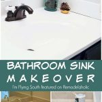 Painted Bathroom Sink and Countertop Makeover