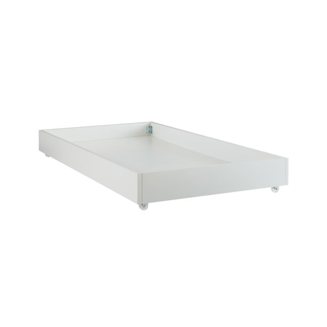 Parke White Trundle Bed   Crate and Barrel