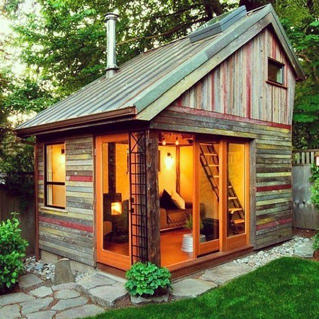 People turned tiny backyard sheds into the coolest part of their homes.
