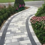 Plank paver shown in Granite City Blend, Pewter & Raven | walkway | Nicolock Pav...,  #Blend ...
