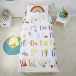 Rainbow 100% Cotton Cot Bed Duvet Cover and Pillowcase Set