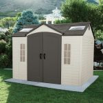 Side 10 ft. W x 8 ft. D Steel-Reinforced Polyethylene Storage Shed