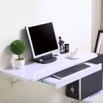 Simple home desktop computer desk simple small apartment new space-saving wall t...