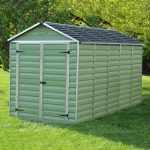 Skylight 6 Ft. W x 12 Ft. D Apex Plastic Shed Sol 72 Outdoor Installation Included: Yes