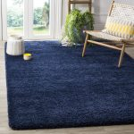 Starr Hill Shag Navy Blue Area Rug