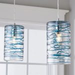 Swirling Glass Cylinder Pendant