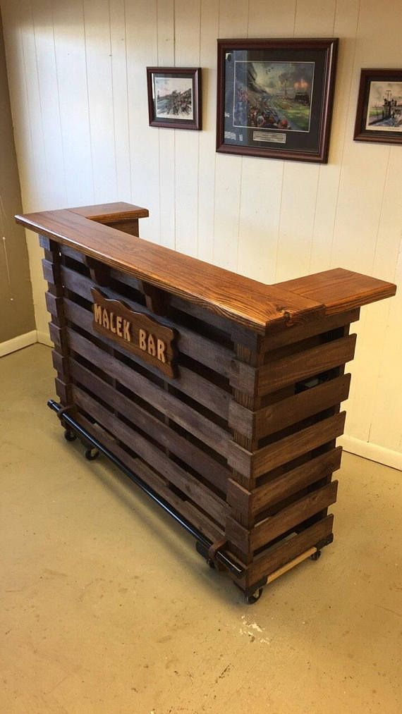The Elite Pallet-Tiki Bar/Personalized Bar • August Sale • Personalized Sign (Electrical Oulets & LED Lighting Included) Absolutely Beautifu