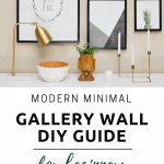 The Modern Minimalist Gallery Wall Guide for Beginners