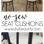 These round seat cushions are completely no sew, and took minutes to make! See h...