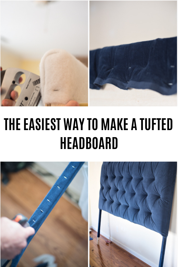 Tufted headboard – how to make it own your own tutorial