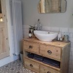 Vanity Unit made from reclaimed scaffold boards