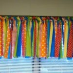 Whimsical Window- DIY Curtains made from Fabric and with Pinking Shears- A cute ...