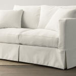 Willow White Full Sleeper Sofa with Air Mattress + Reviews | Crate and Barrel