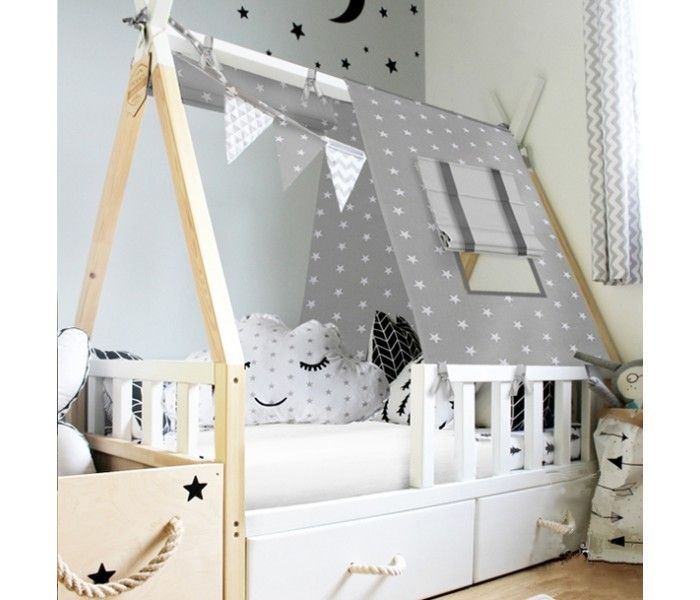 Wooden Toddler Bed With Canopy