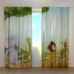 curtains panels kids curtains Living room curtains blackout curtains animal curt...