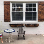 set of 2 Herringbone window shutters/wooden shutters/rustic industrial farmhouse exterior decor