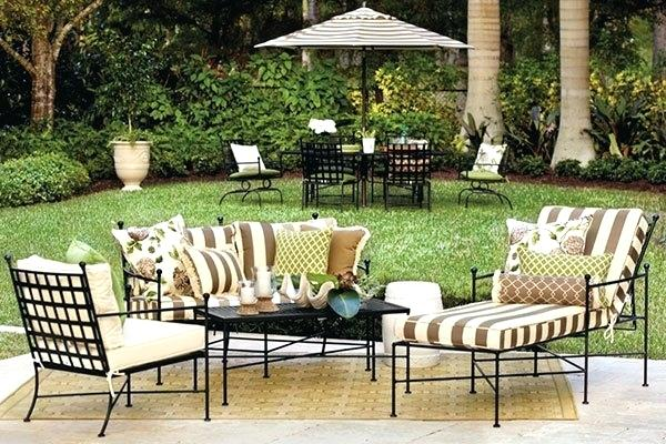 wrought iron patio chair cushions wrought iron chaise lounge patio furniture wit…