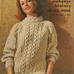 Vintage Ladies Aran knitting patterns available from The Vintage