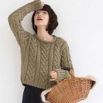 Basic Aran Sweater Free Knitting Pattern ⋆ Knitting Bee