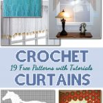 19 Free Patterns For Making Crochet Curtains with details tutorial