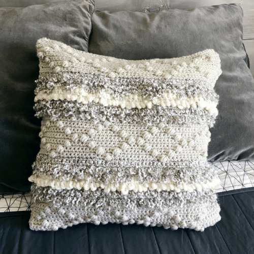 Add Luxury To Any Room With This Crochet Pillow Cover Pattern