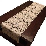 Amazon.com: USTIDE Floral Crochet Table Runner Cotton Lace Table