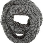 Spinningdaisy Women's Chunky Knit Infinity Scarf Grey Color at