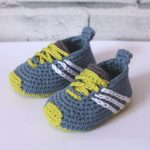 "CROCHET PATTERN baby sneakers - ""Federation Runners"" - cute modern baby patterns, babyshower trending ideas, gift, girl boy present"