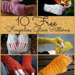 10 free fingerless gloves patterns.  free knitting patterns. Quick and easy Chri...