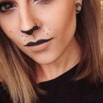 Easy adult face paint for Halloween party, not too scary but so nice!   #facepai...