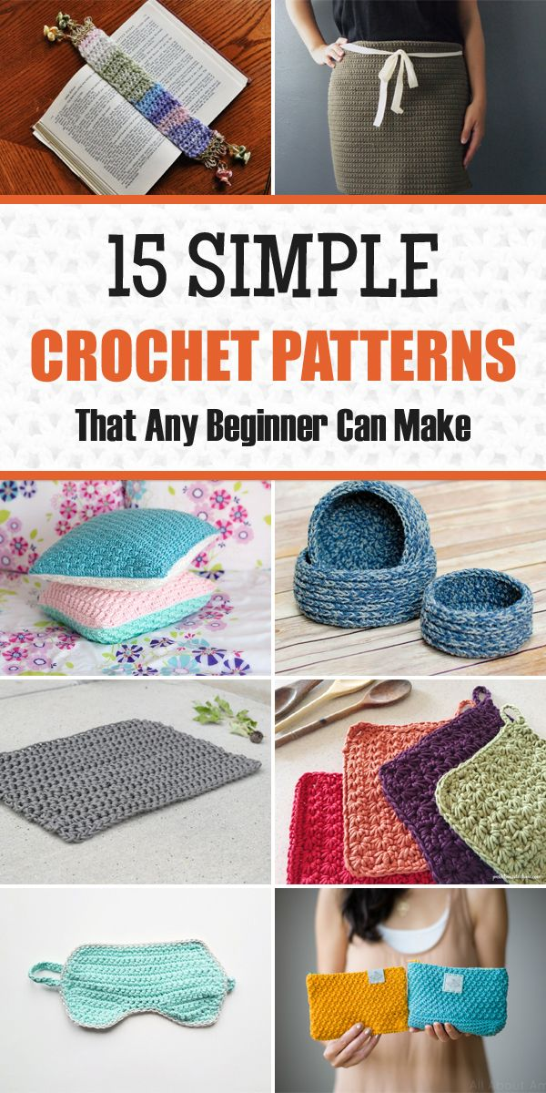 15 Simple Crochet Patterns Perfect for Beginners