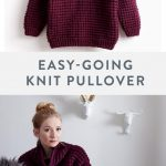 Free Easy Knit Sweater Pattern | Made with #Bernat Roving, a soft, thick, and ea...