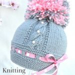 Knitting  P A T T E R N  Knitting Baby Hat Baby Patterns Knitted Baby Hat Knitting Pattern Baby Hats Knitting Hat  Newborn Hat  ( PDF file )