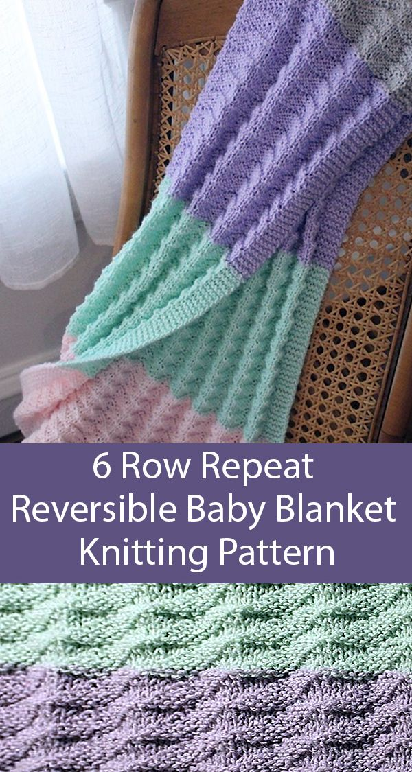 6 Row Repeat Baby Blanket Knitting Patterns