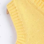 V Neck Solid Color Pullover Knitted Waistcoat