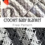 Crochet Diamond Lace Baby Blanket | Stitching Together