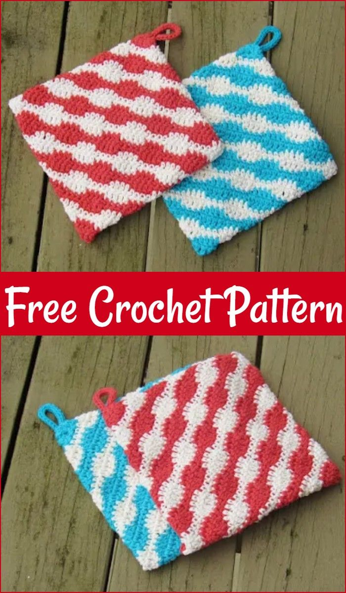 Free Crochet PotHolder Patterns For Your Kitchen – Craft Ideas