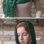 PATTERN: The Celtic - knit Woven Scarf, giant scarf, chunky knit scarf patter, cowl scarf, hooded scarf, knit scarf, cabled scarf, diy