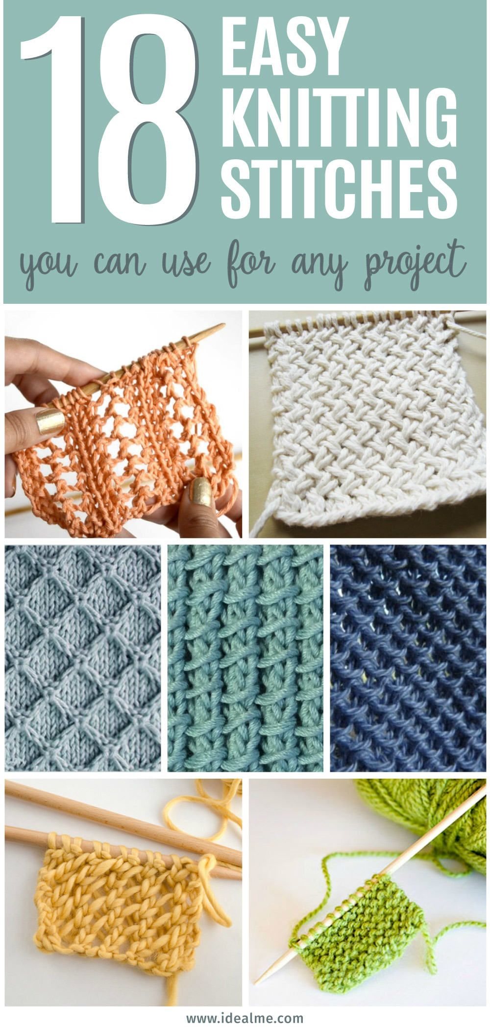 18 Easy Knitting Stitches You Can Use for Any Project – Ideal Me