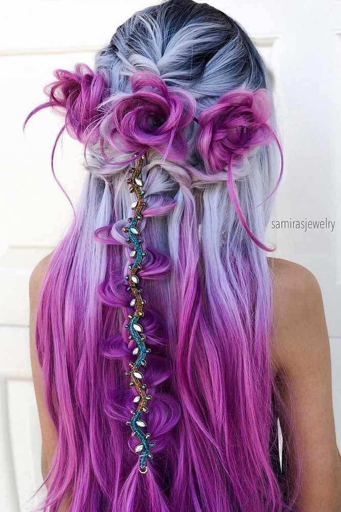 18 Vibrant And Pastel Mermaid Hair Color Ideas