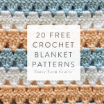 20 Free Crochet Blanket Patterns made with Caron Simply Soft