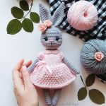 40 Best Cute Crocheted Amigurumi Patterns Ideas Pictures Page 33 girl bunny toy
