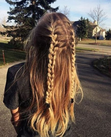 43+ Trendy Hairstyles For Work Long French Braids