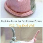Baby & Kids Beanie Hat Free Knitting Patterns #knitting - Love Amigurumi