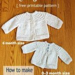 5 Hour Knit Baby Sweater - A Little Smaller! - The Make Your Own Zone