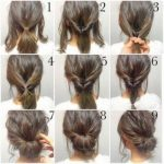 57+ ideas hairstyles for medium length hair easy casual updo for 2019