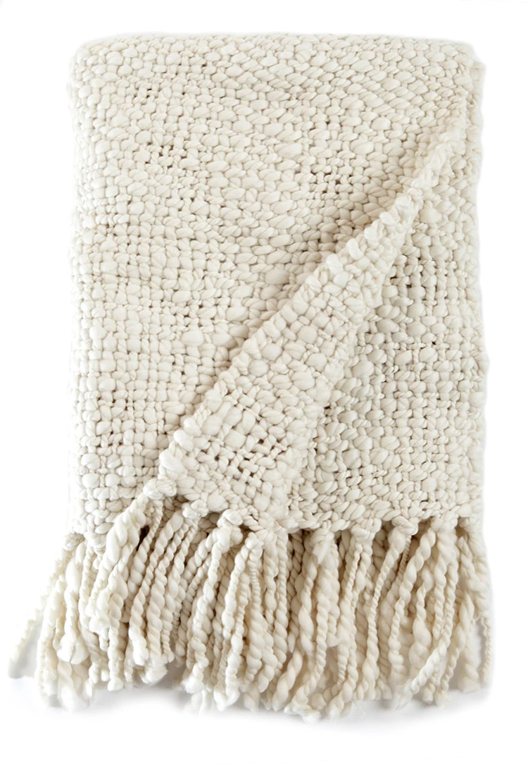 Alma Throw Blanket – Natural Ivory