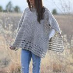 Alpaca Easy Crocheted Poncho Pattern, Taupe Poncho Pattern, Classic Crochet Poncho Pattern, Pretty Crocheted Poncho, Crocheted Top
