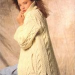 Aran Coat Long Line Jacket Aran Knitting Pattern Cable Sweaters Jumpers 34 42 inch Aran Wool Knitting patterns PDF Instant Download